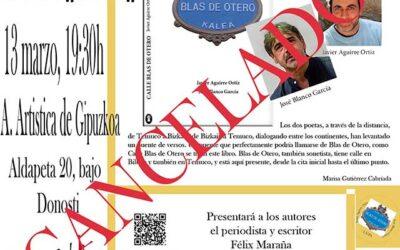 CALLE BLAS DE OTERO presentaciones en marzo